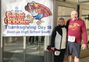 Bob & Deb after finishing the Great Gobbler 5K