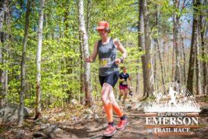 Tara at the 2019 Ralph Waldo Emerson Trail Race. Part of the All Terrain Runner series.